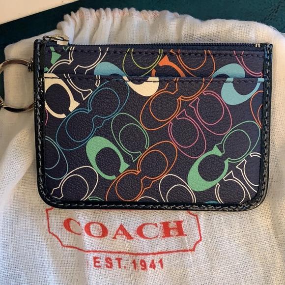 Coach Keychain Coin /side card holder💥NEW